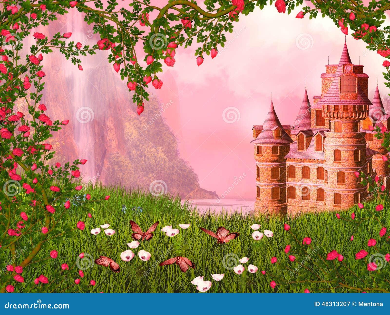 Landscape Illustration Vector Free: Fairy Tale Landscape Stock Illustration. Image Of Princess