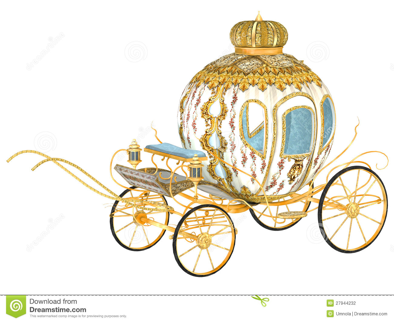 Fairy Tale Royal Carriage Stock Photography Image 27944232