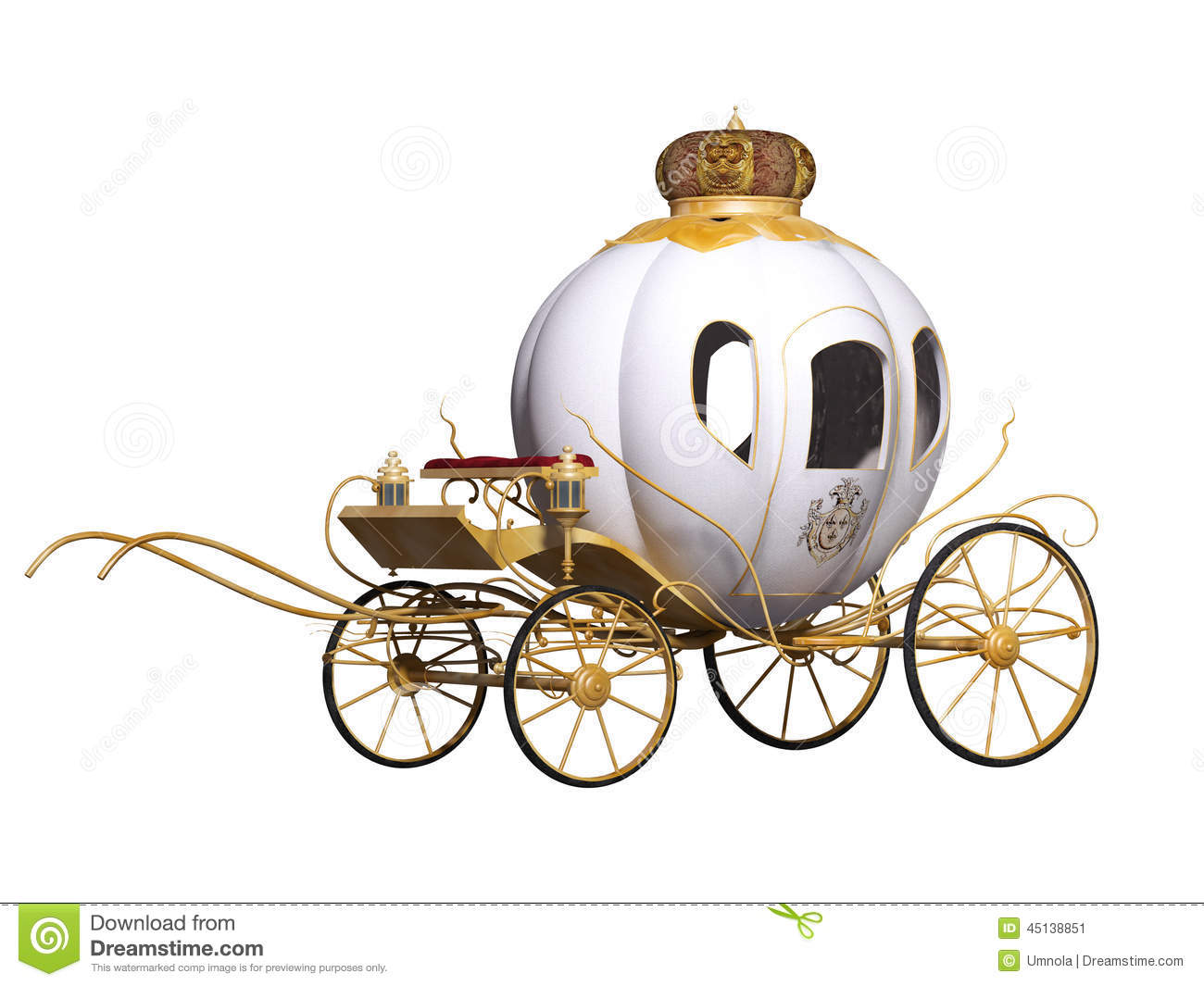 Fairy Tale Royal Carriage Stock Illustration - Image: 45138851