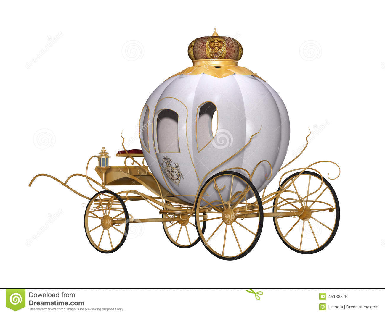 Fairy tale royal carriage stock illustration. Illustration ...