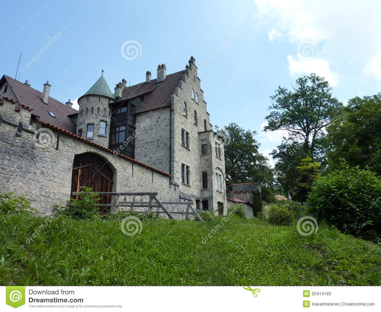 The romantic castle of lichtenstein in baden wuertemberg in germany