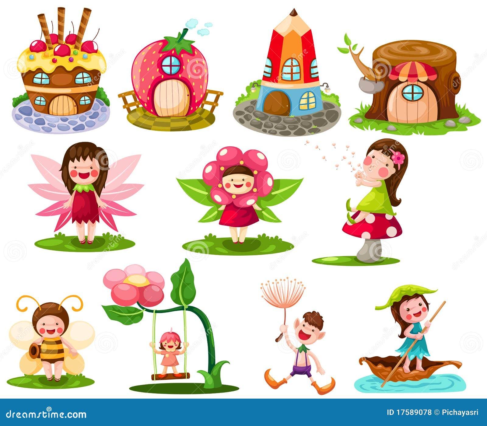 Fairytale Settings: Fairy Tale Set Royalty Free Stock Photos