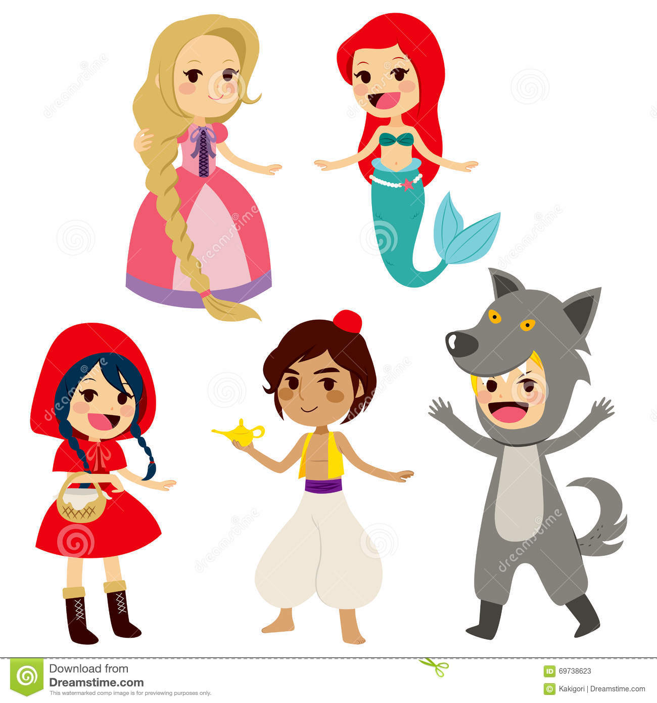 Fairy Tale Set Characters Stock Vector - Image: 69738623