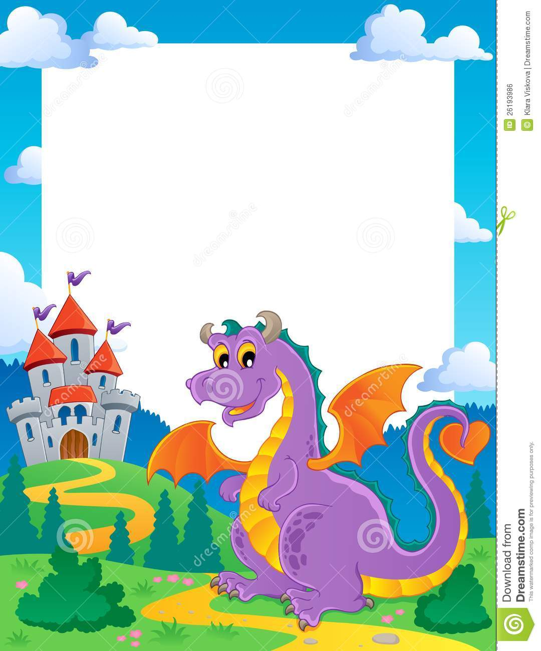 fairy tale theme frame 1 royalty free stock image image