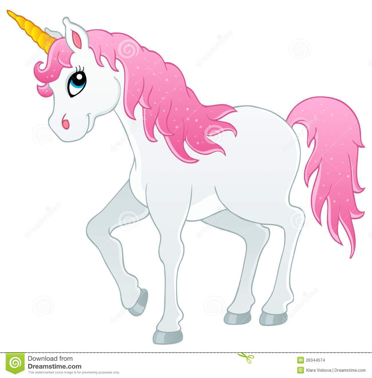 Fairy Tale Unicorn Theme Image 1 Stock Images - Image: 26344574