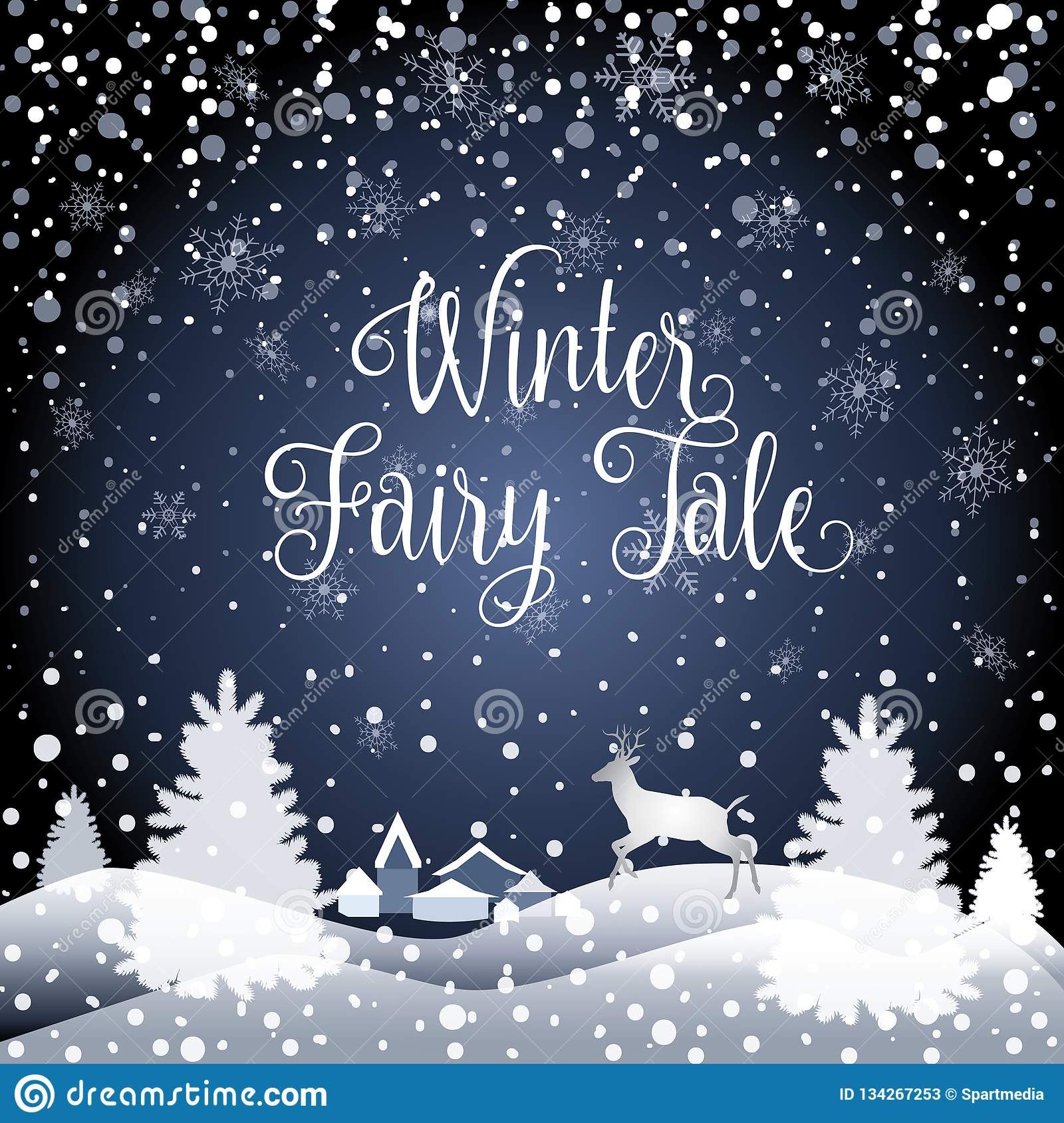2021 Fairy Tale Winter Holiday Happy New Year Christmas ...