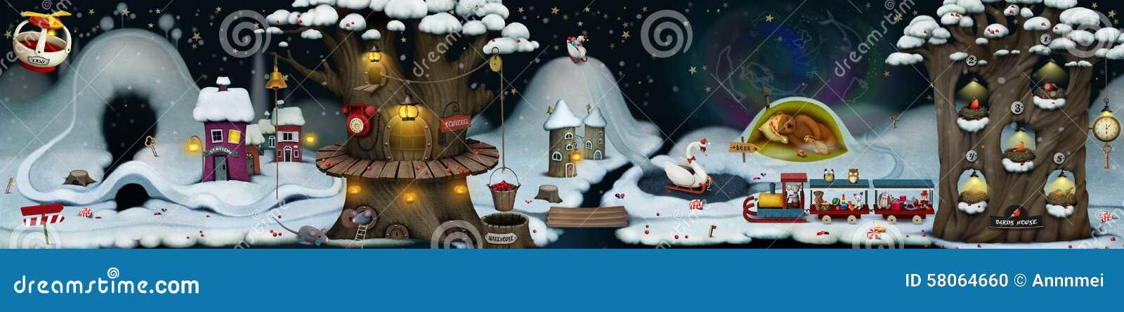 Fairy winter night