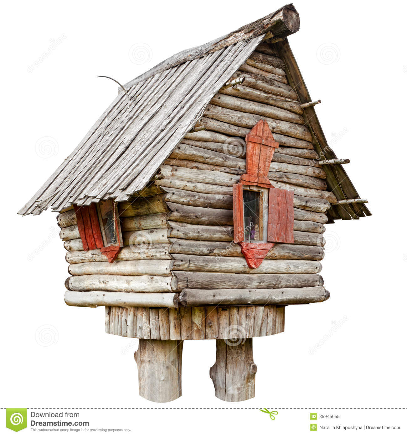Fairy Witch House Chicken Legs Royalty Free Stock Image