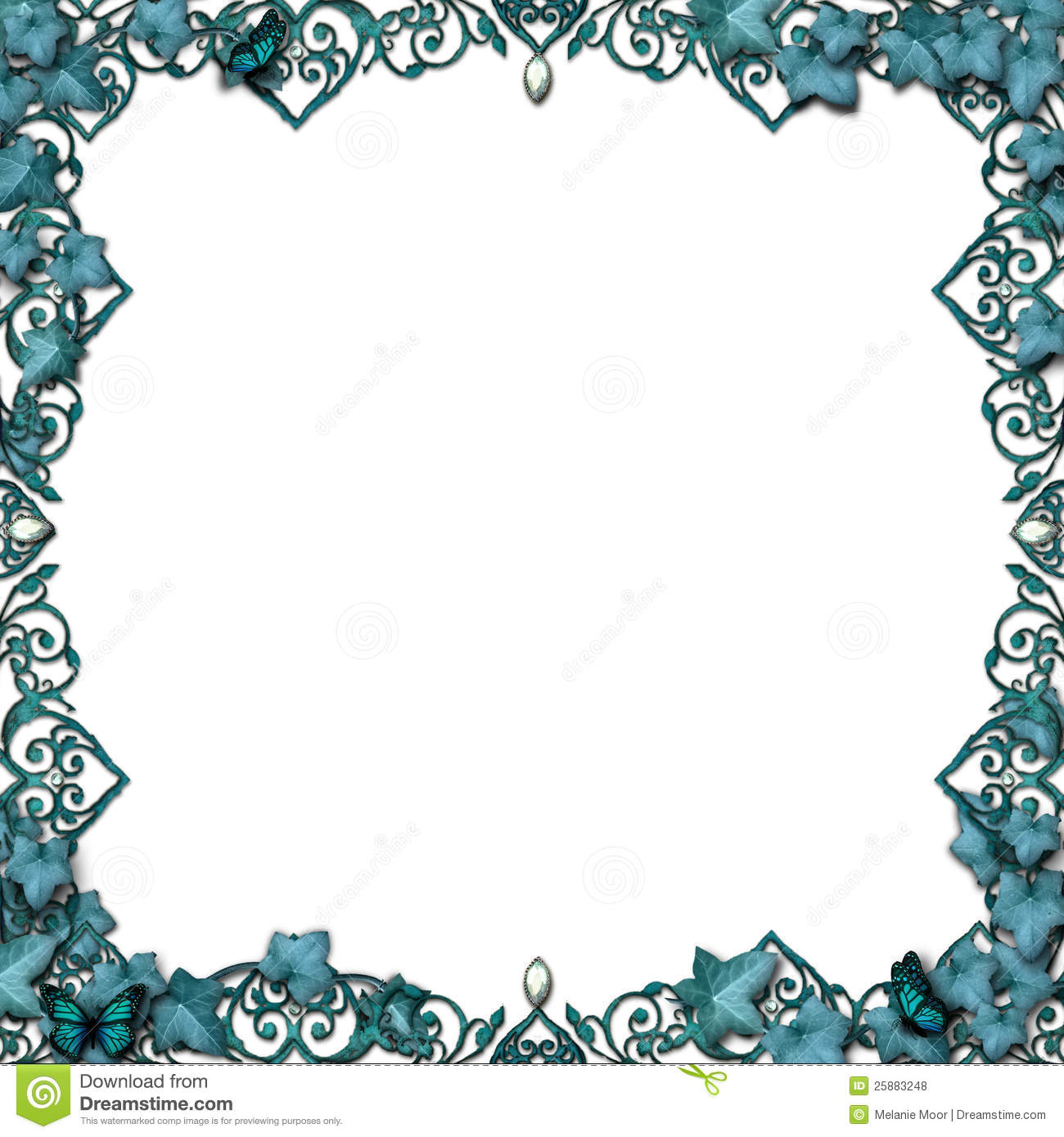 Fairytale Border Vines Flourish Isolated Royalty Free Stock Photos ...