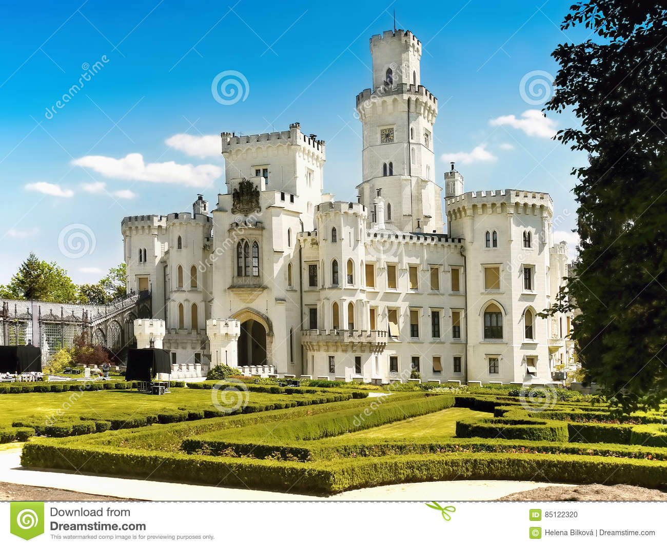 Fairytale Castle stock photo  Image of garden, royal - 85122320