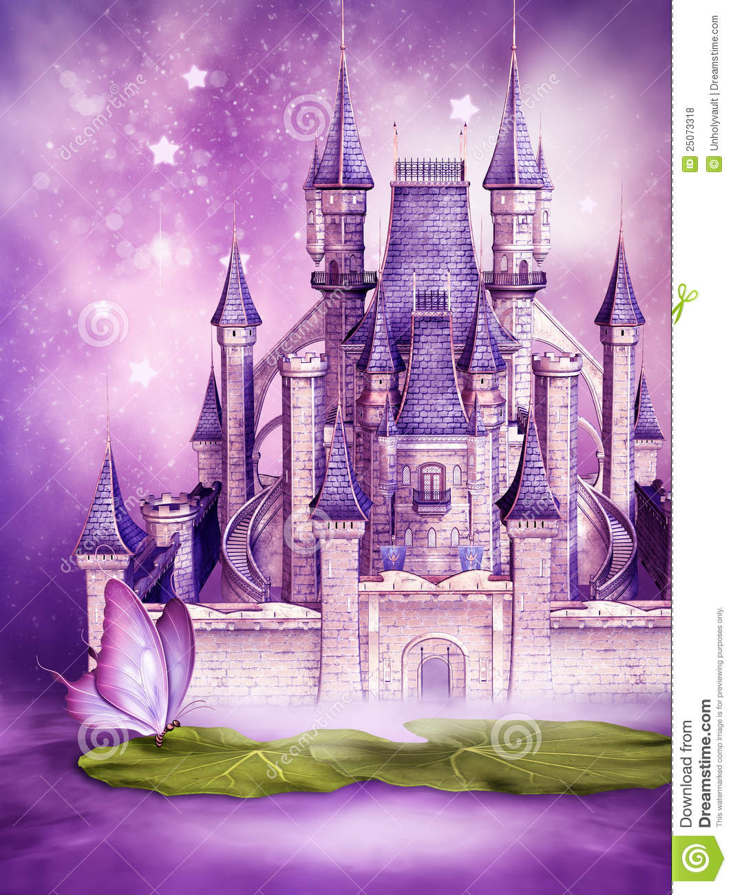 Fairytale Castle On Water Royalty Free Stock Photos