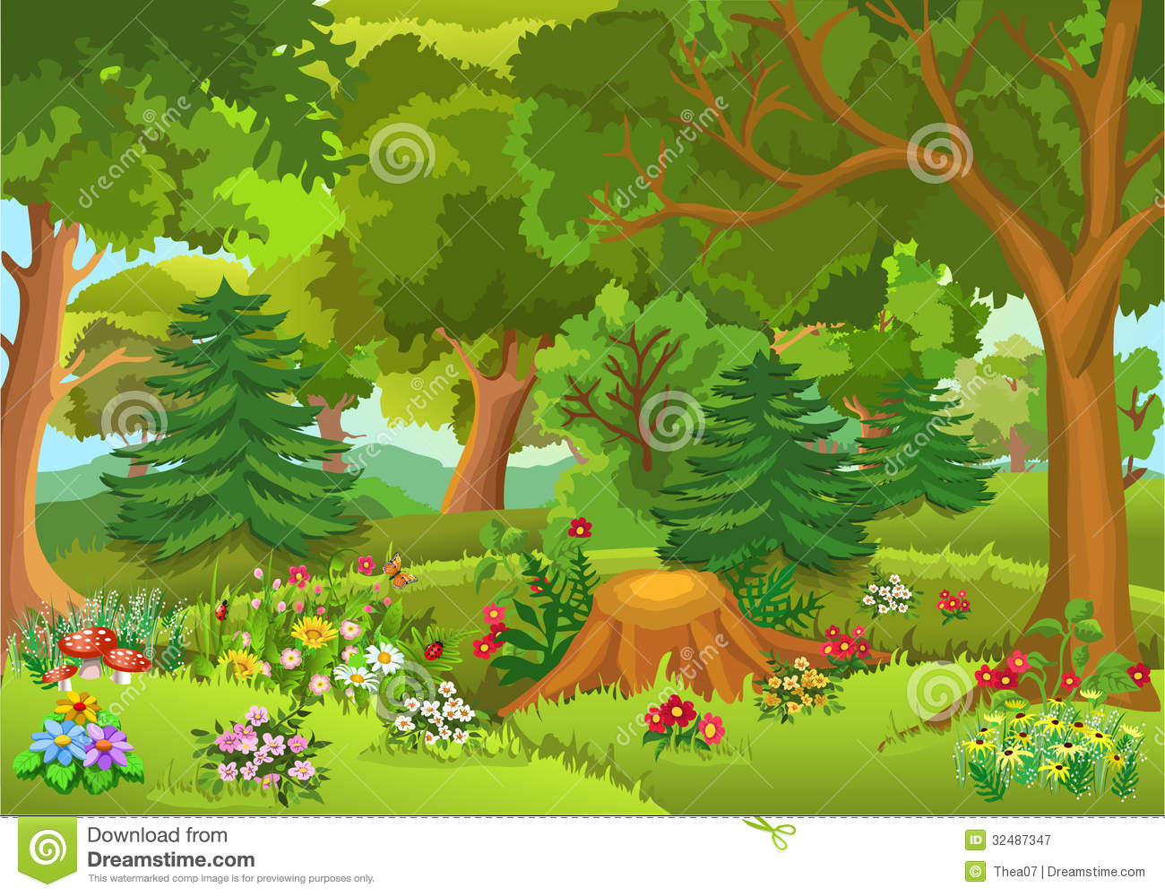 Fairytale Forest Royalty Free Stock Photography - Image: 32487347