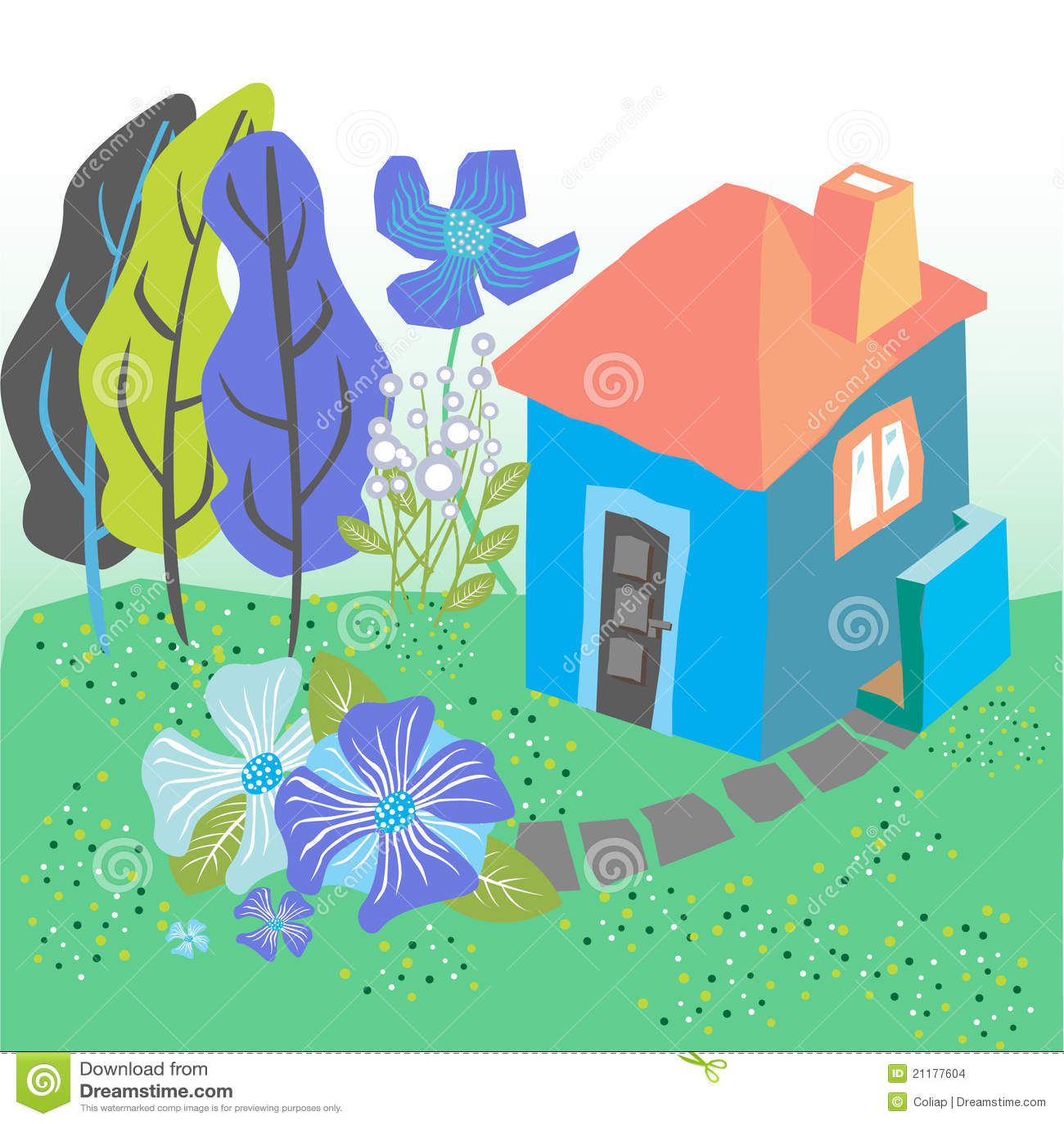 Fairytale house illustration