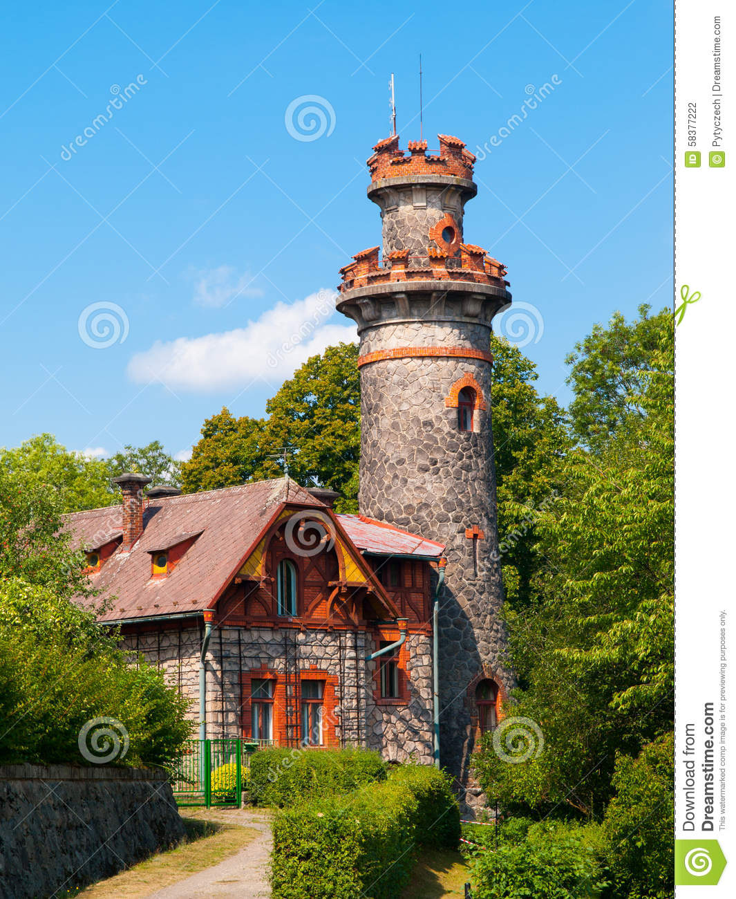 Fairytale House With Tower Stock Photo Image Of
