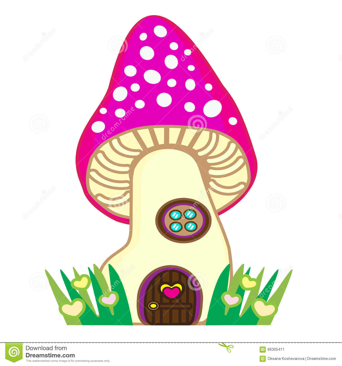fairytale mushroom house for fairy a gnome or fairies stock vector