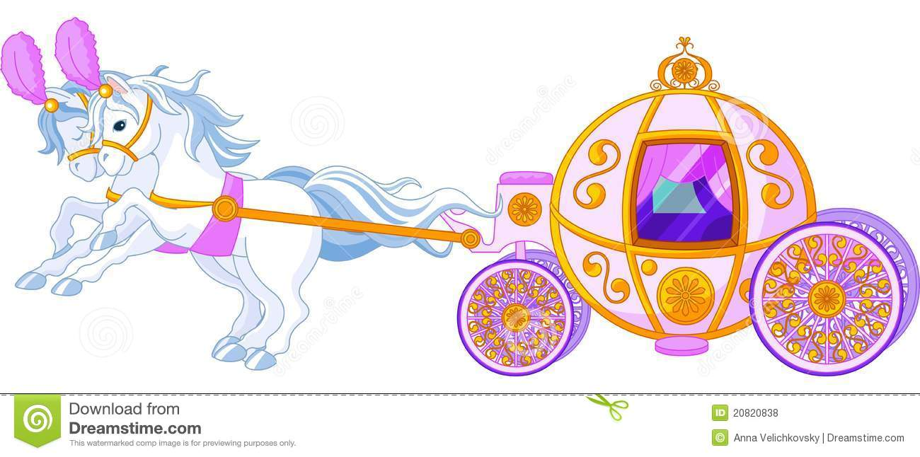 Fairytale pink carriage stock vector. Illustration of clip ...