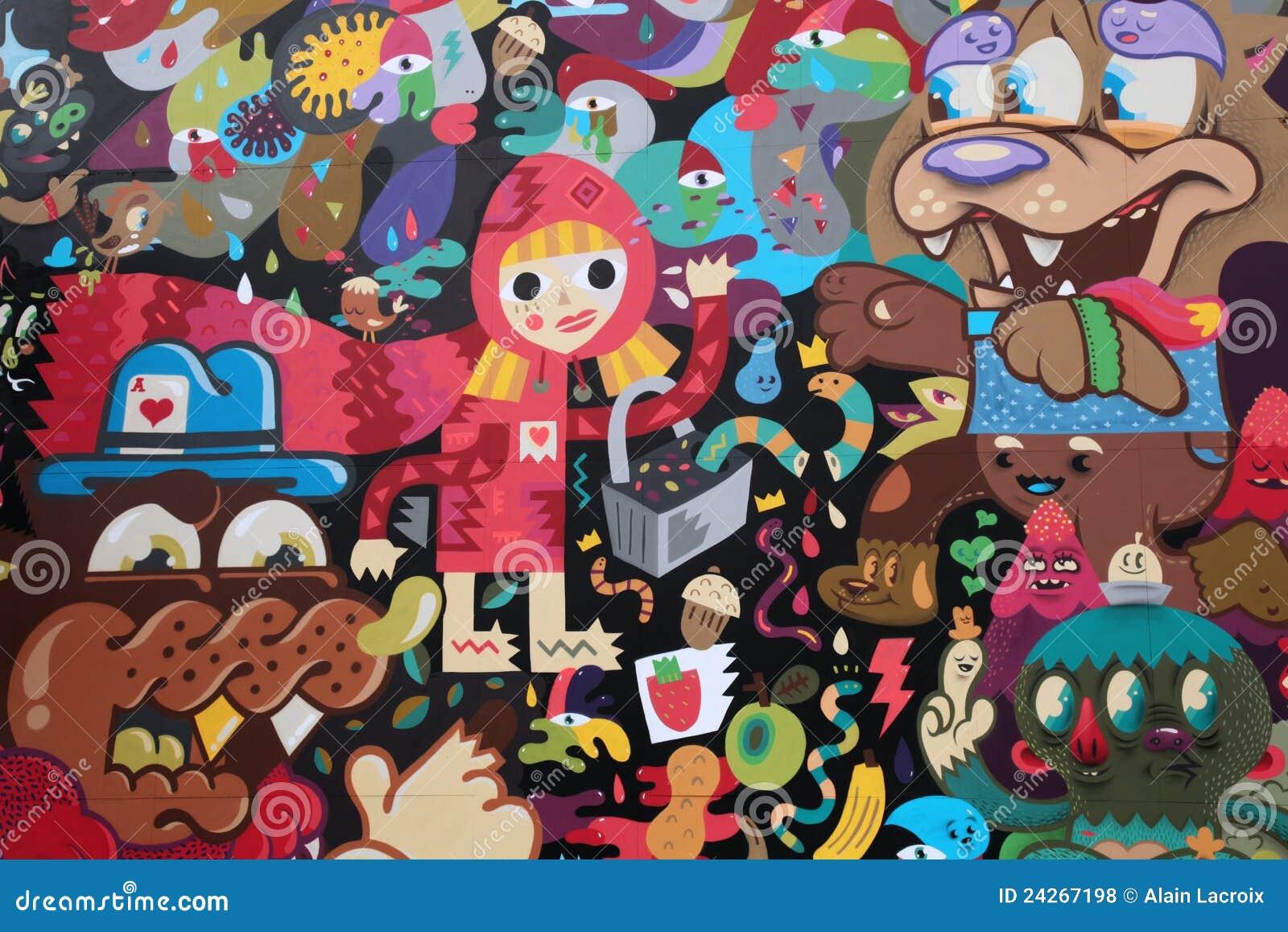 Fairytale street art