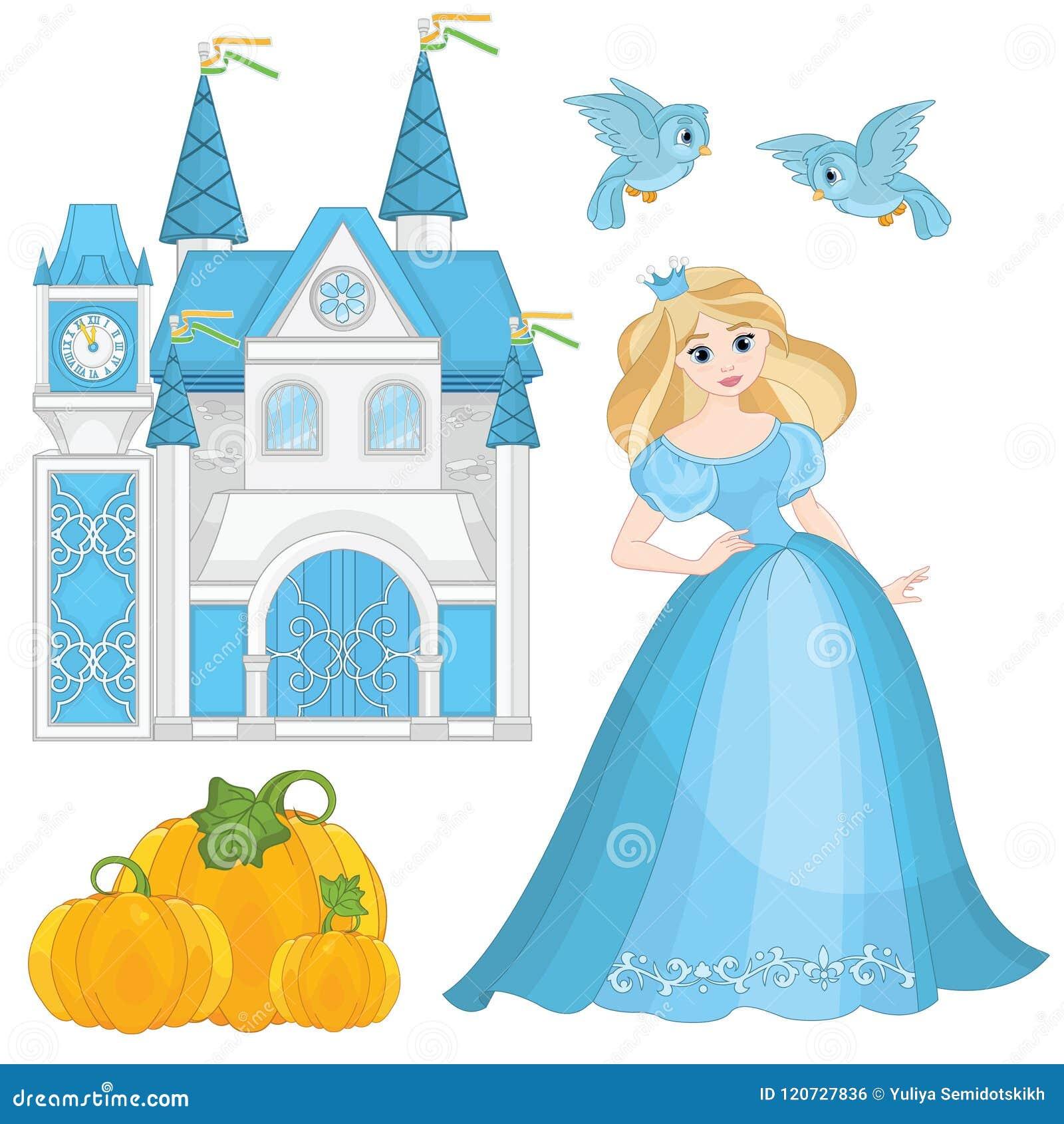 Fairytale Vastgestelde Leuke Prinses Cinderella