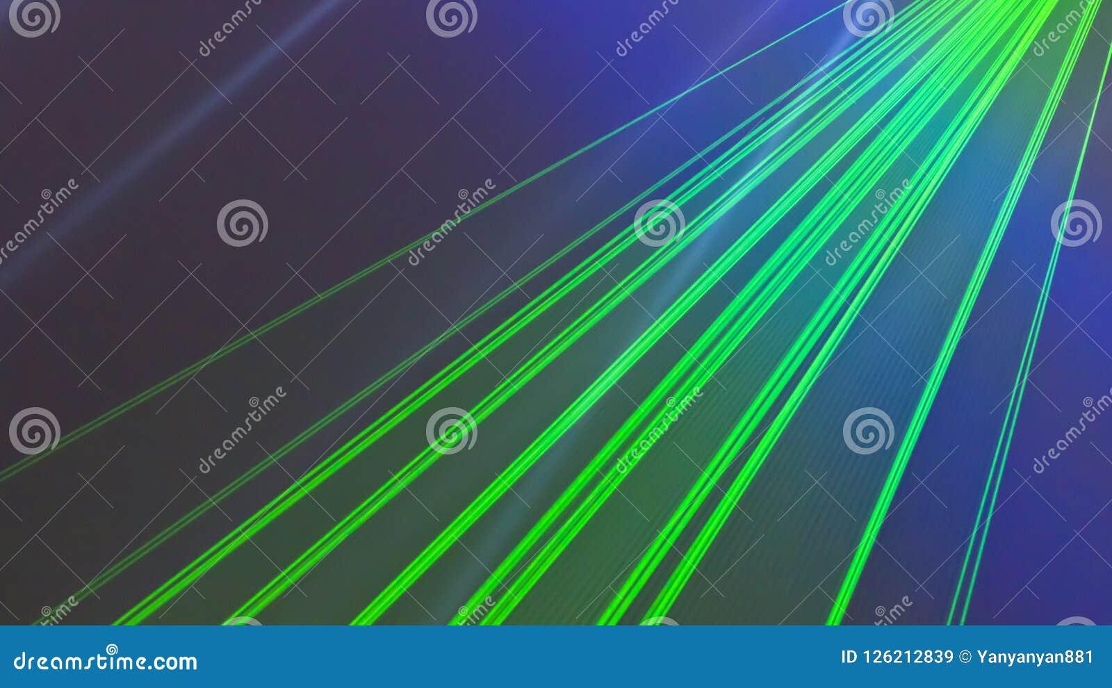 Faisceaux lumineux de lumière laser colorés