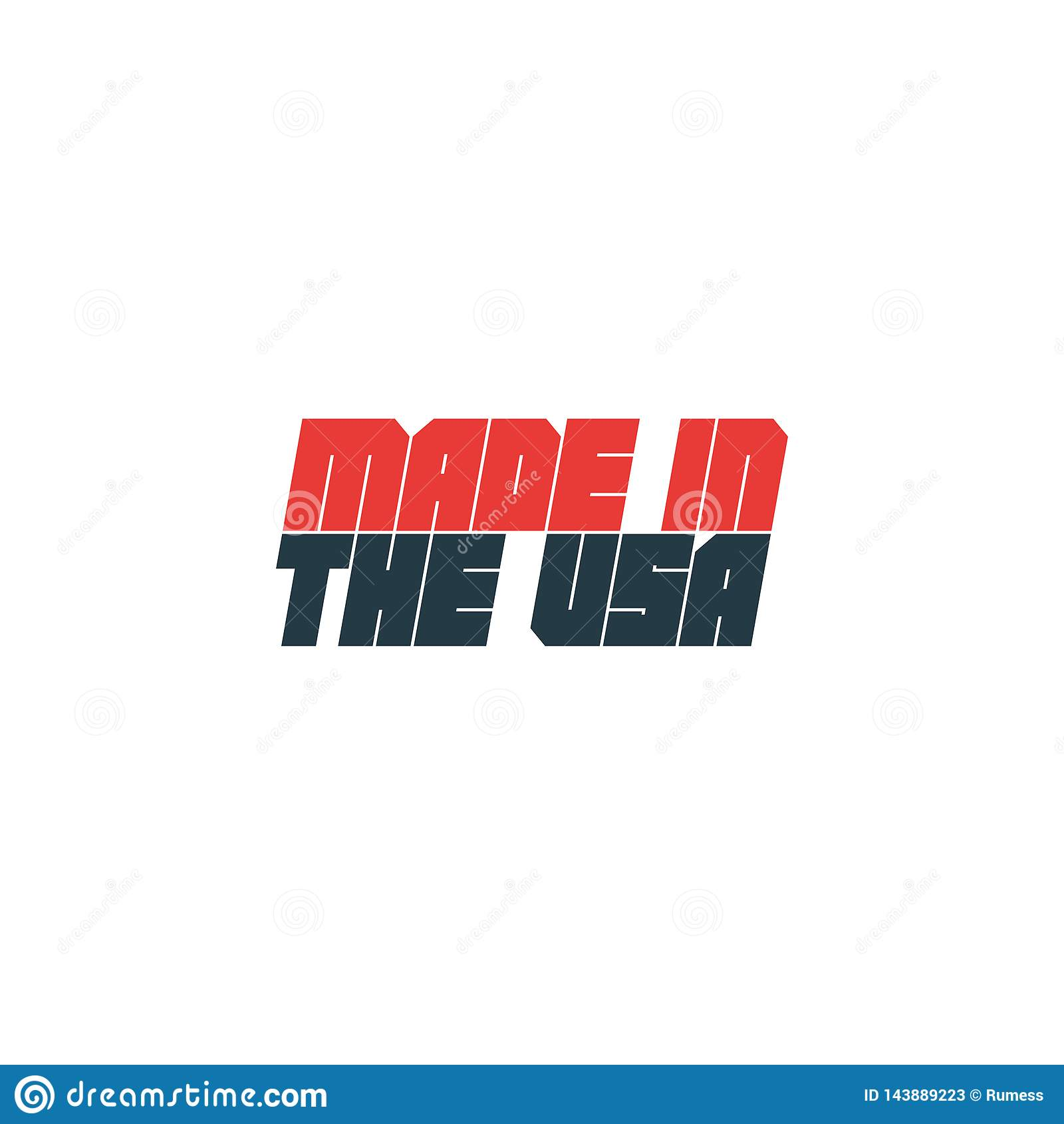 Fait dans l insigne des Etats-Unis Illustration de vecteur