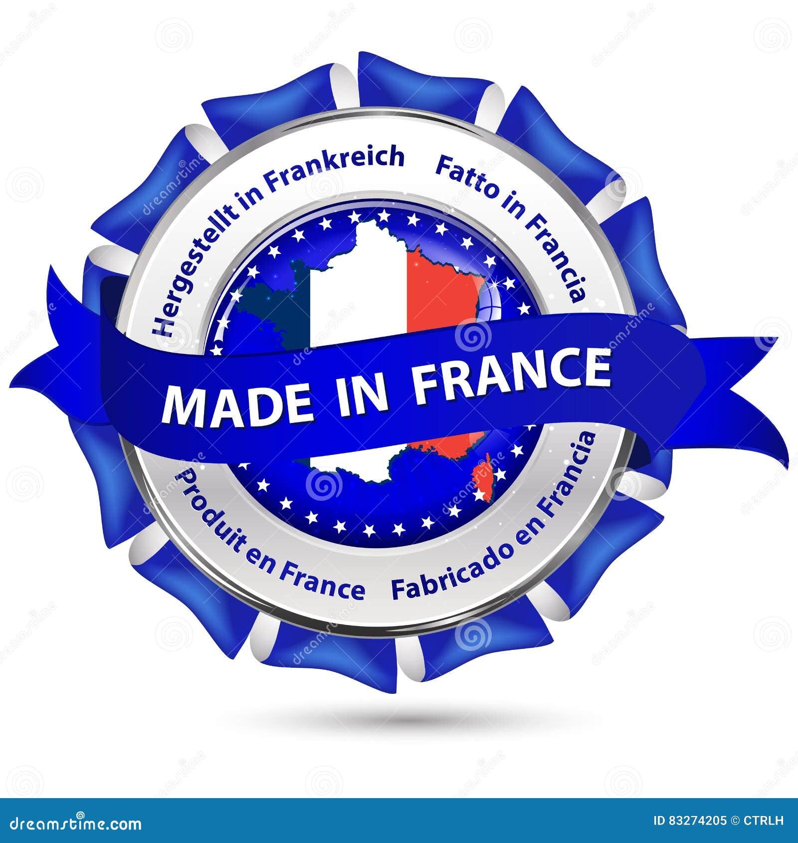 Fait Dans Les Frances - Ruban/icône Au Détail D'affaires