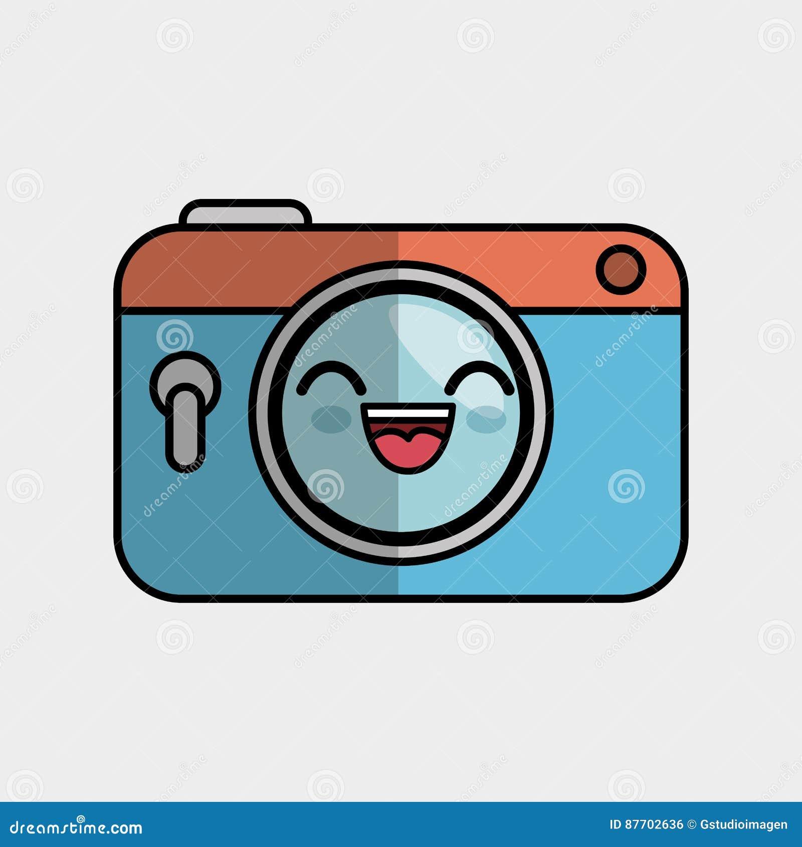 Fait main photographique de caractère d appareil-photo dessiné
