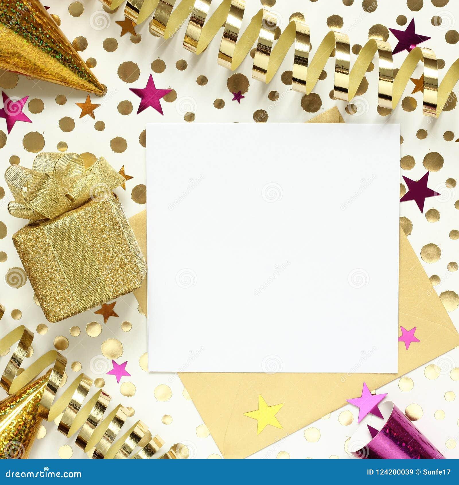 Faites La Fête Le Fond Avec Le Boîte Cadeau Lor Et Le