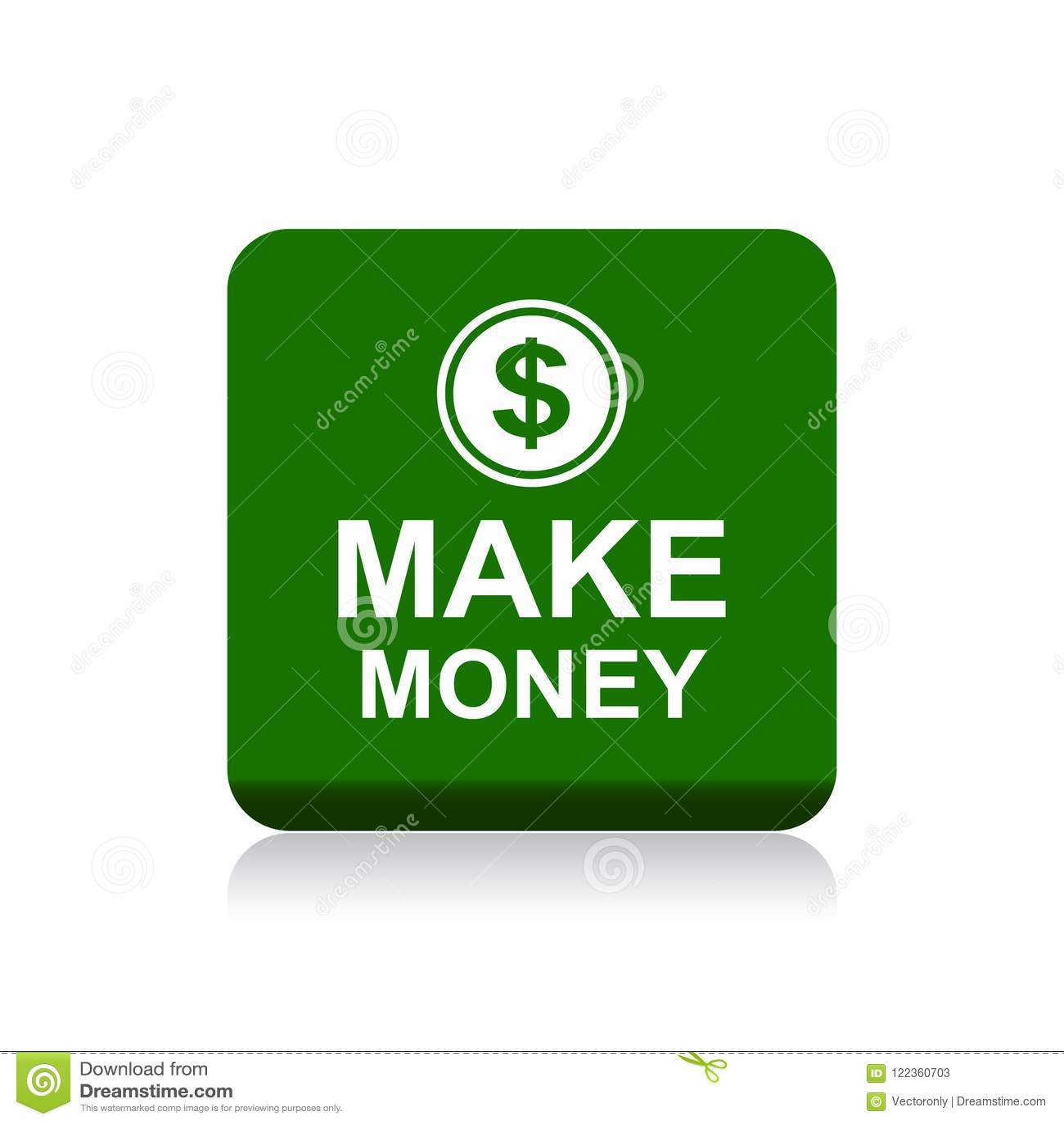 Faites le bouton de Web d argent