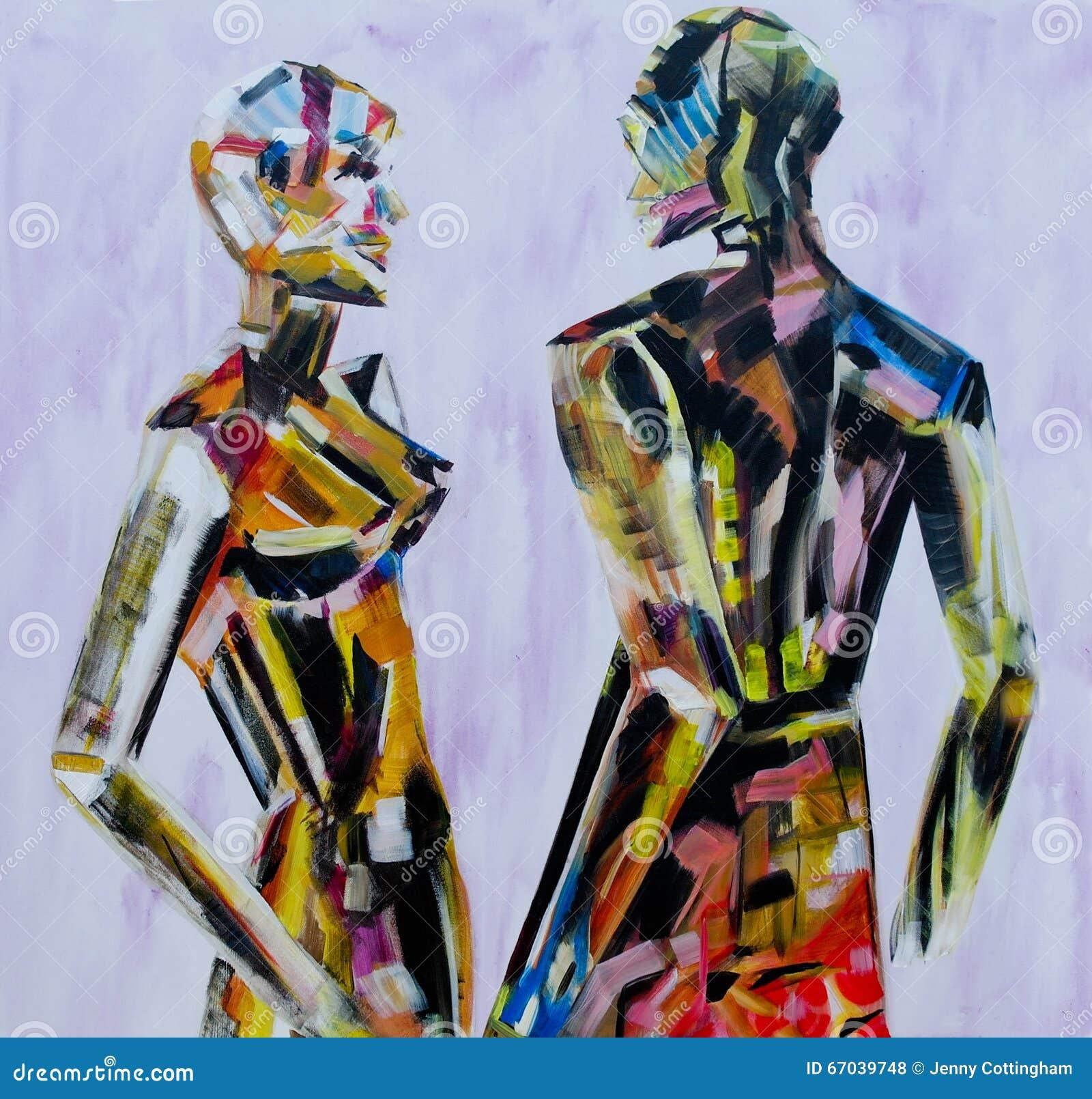 Faites vous venez ici souvent peinture du mannequin les for Style de peinture