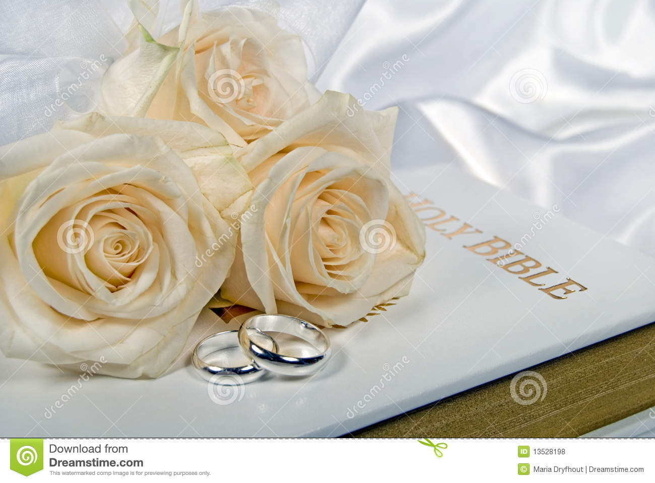 Wedding Rings And Roses On Bible: Ivory Roses And Wedding Rings At Reisefeber.org