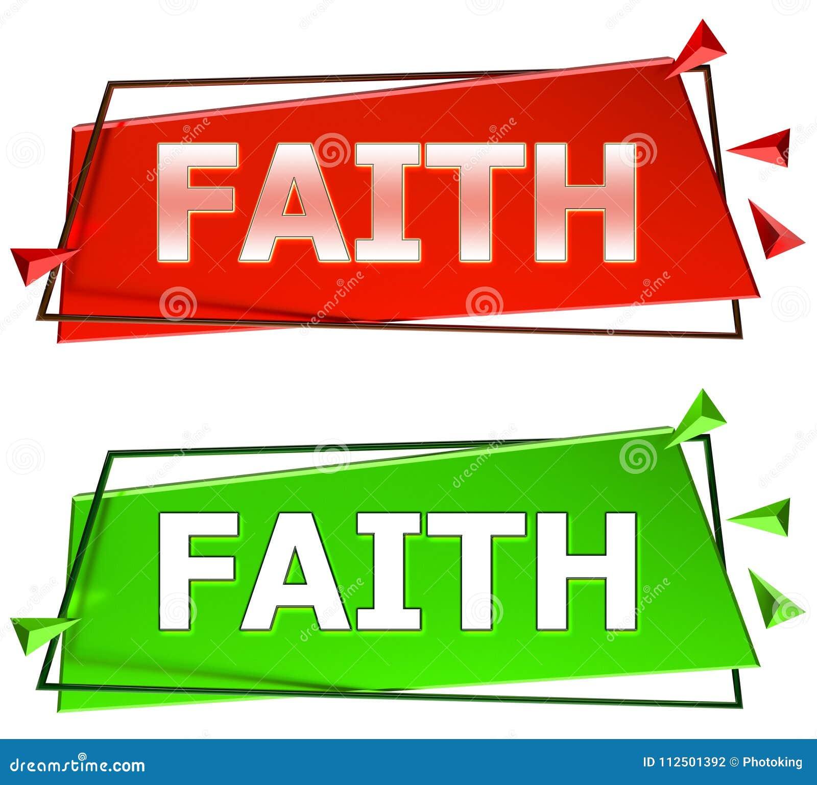 Faith sign stock illustration. Illustration of jesus - 112501392