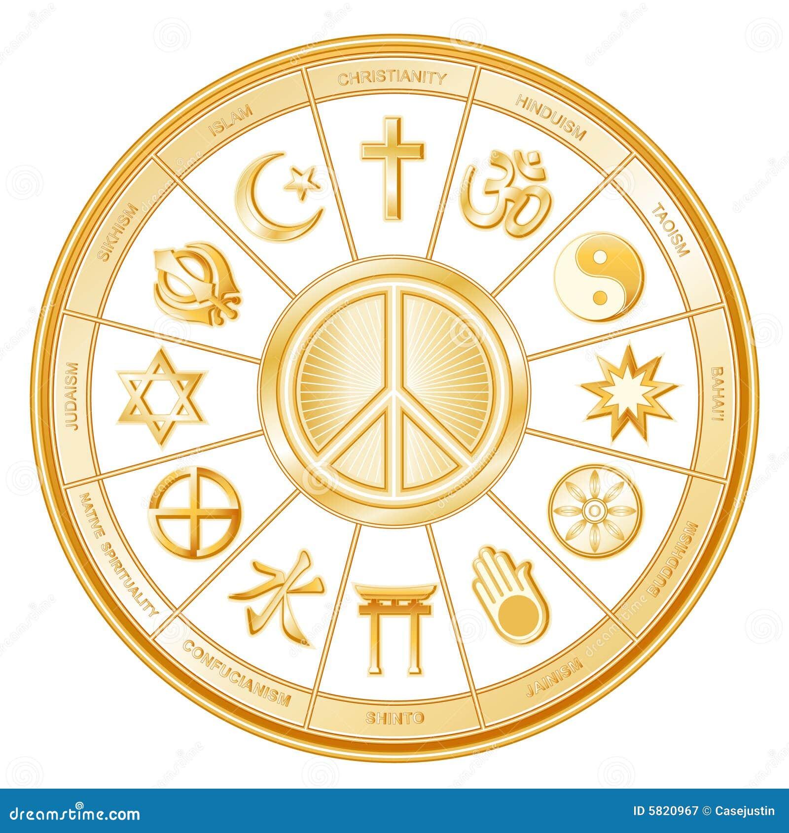 Faiths many peace world