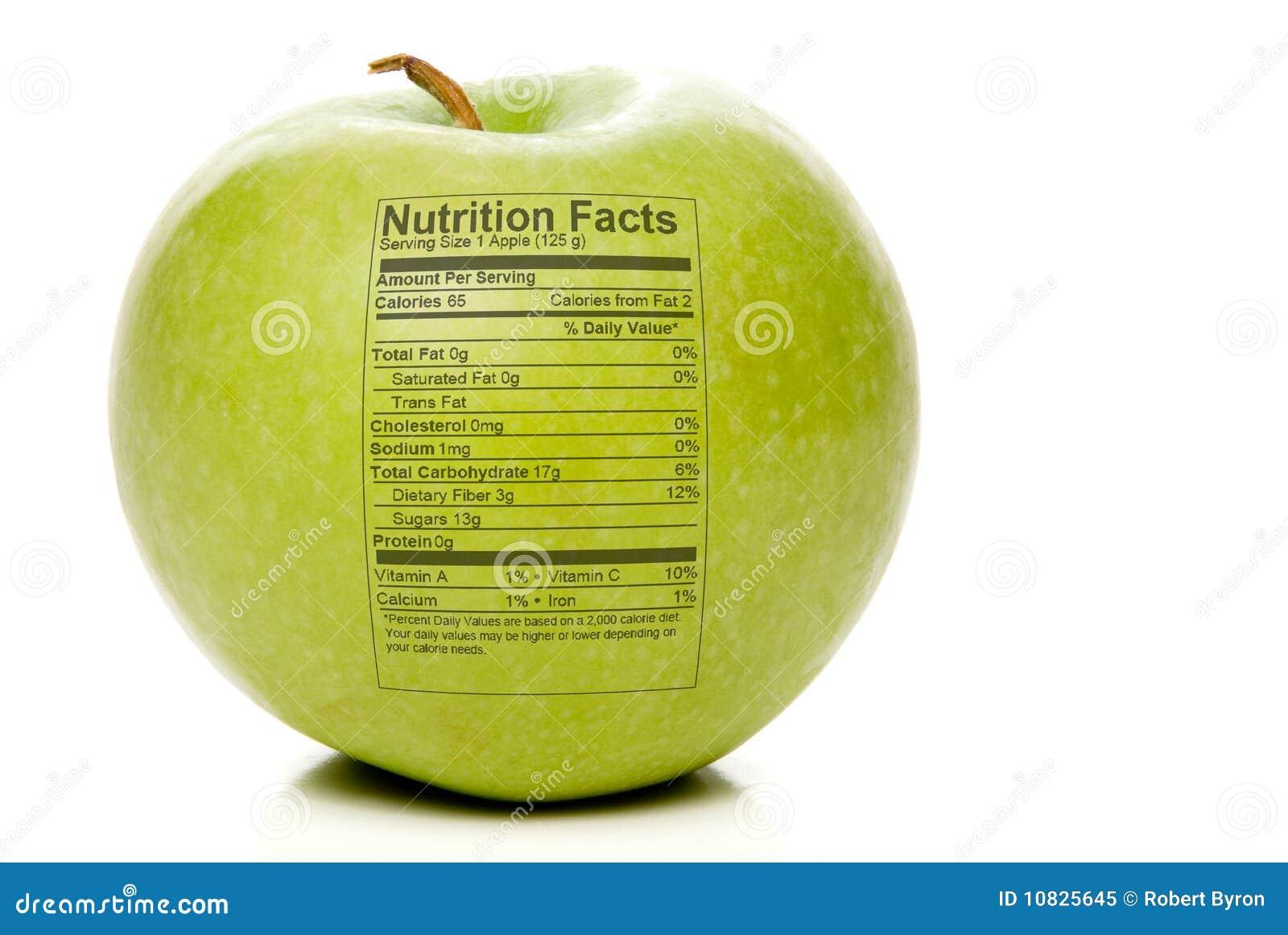 Faits de nutrition d Apple