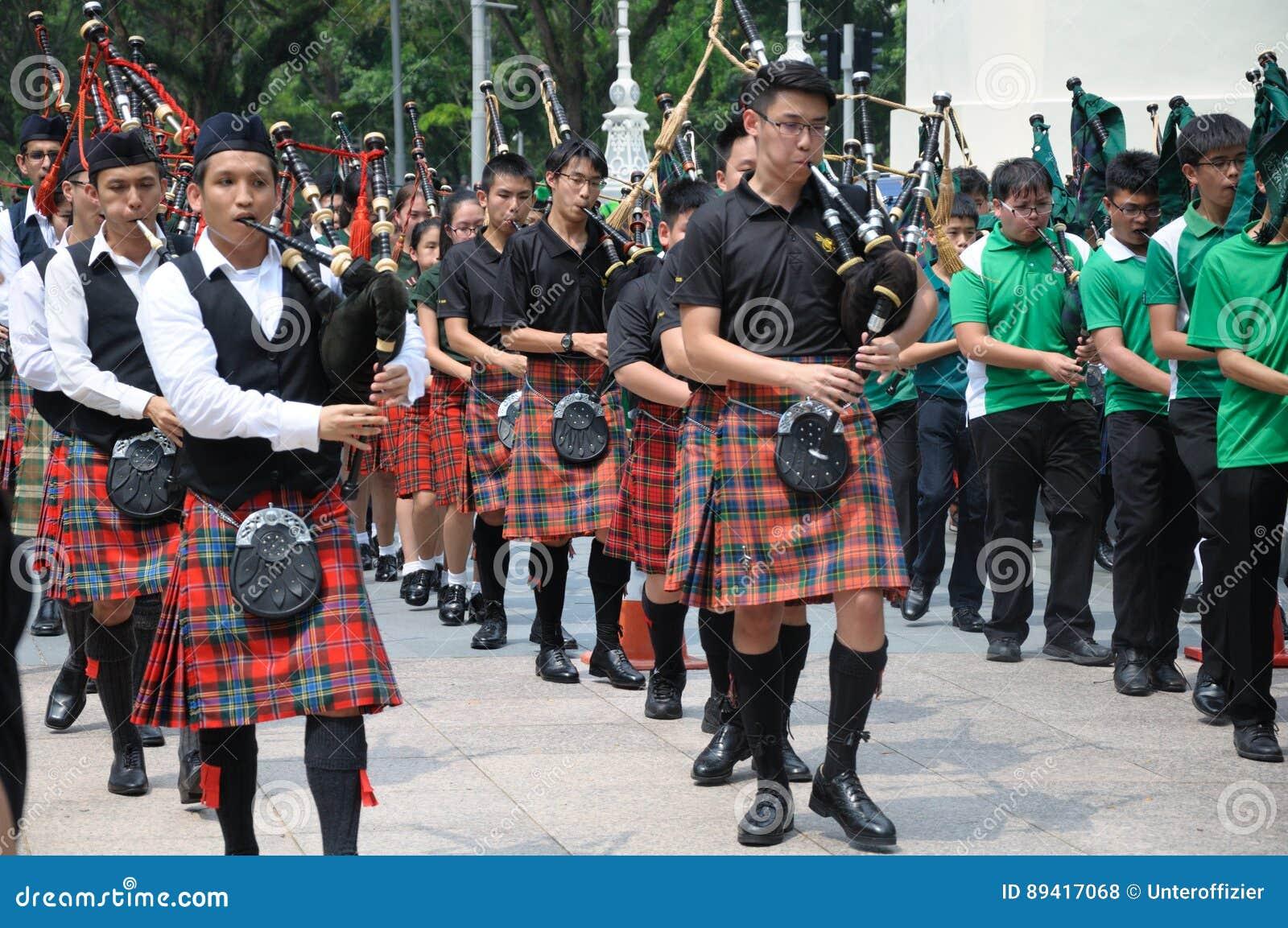 Faixa da música da gaita de fole do dia do ` s de St Patrick