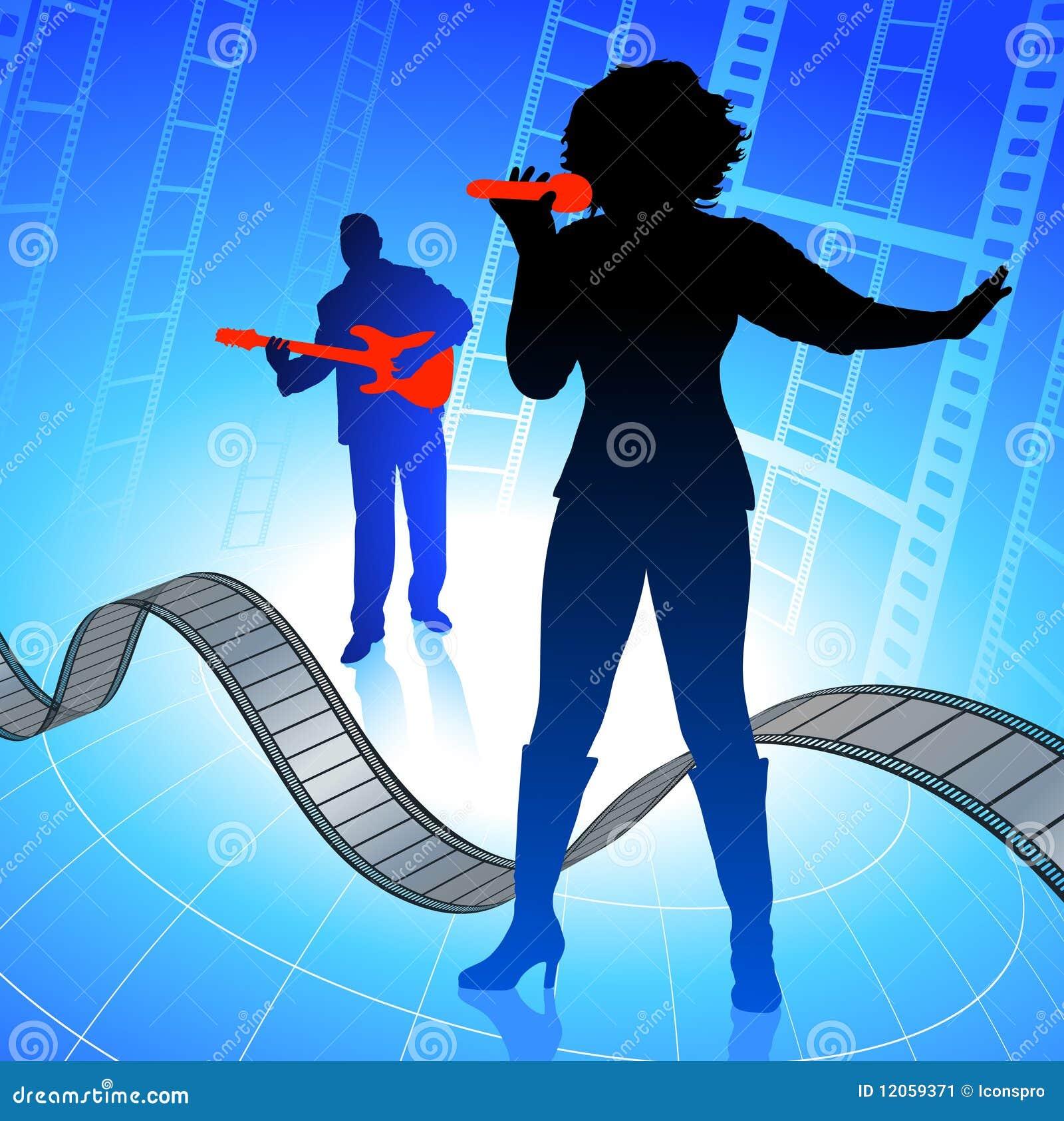 Faixa da música a o vivo no fundo da película do Internet