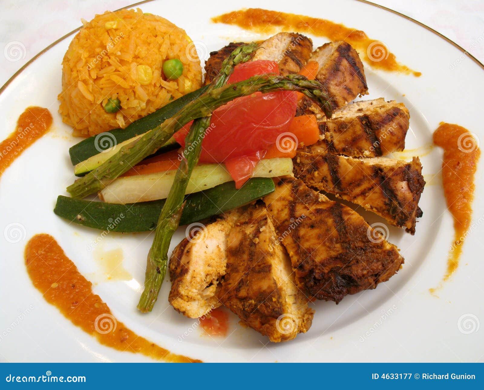Fajitas da galinha do gourmet