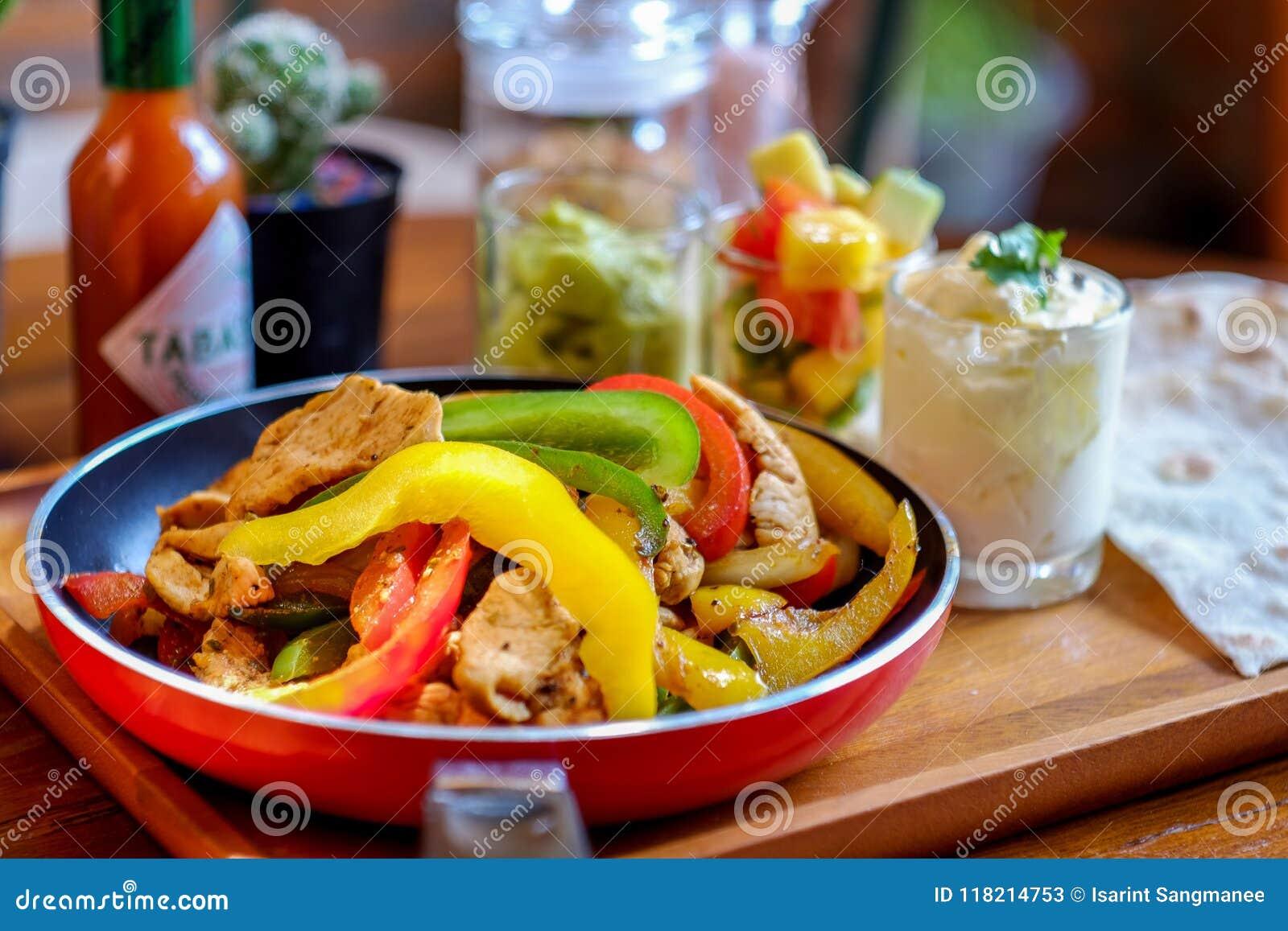 Fajitas mexicains de poulet