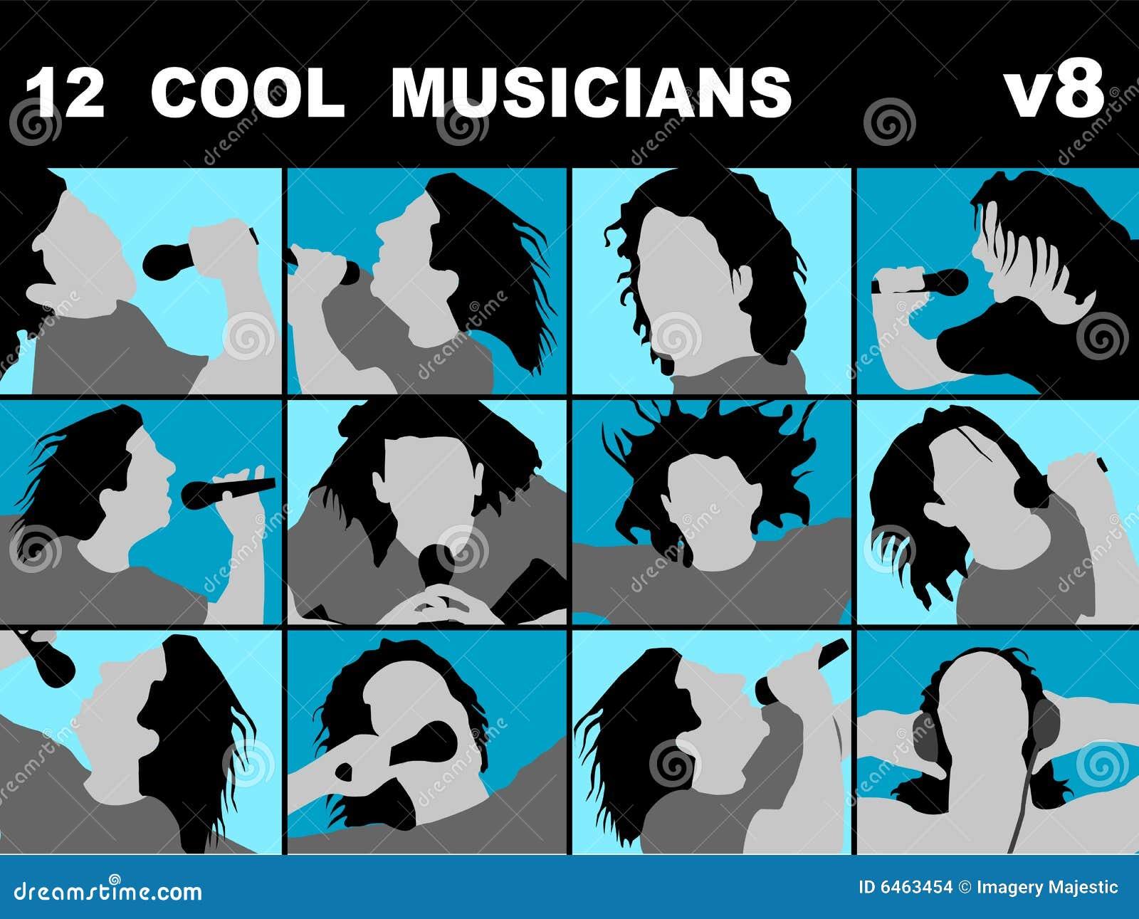 Fajne muzyków śpiewać karaoke