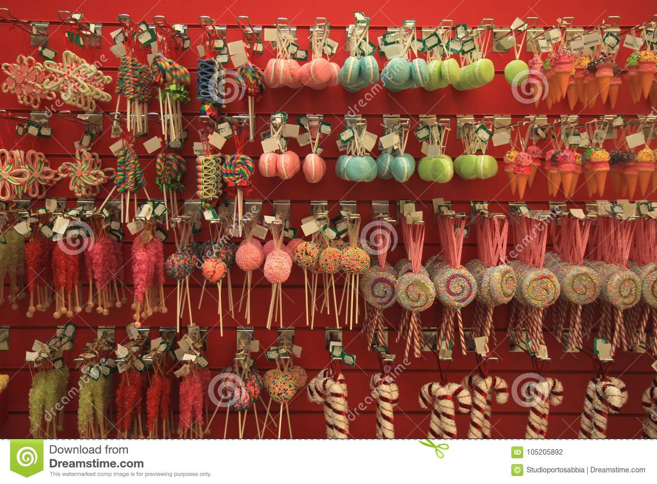 fake candy christmas ornaments
