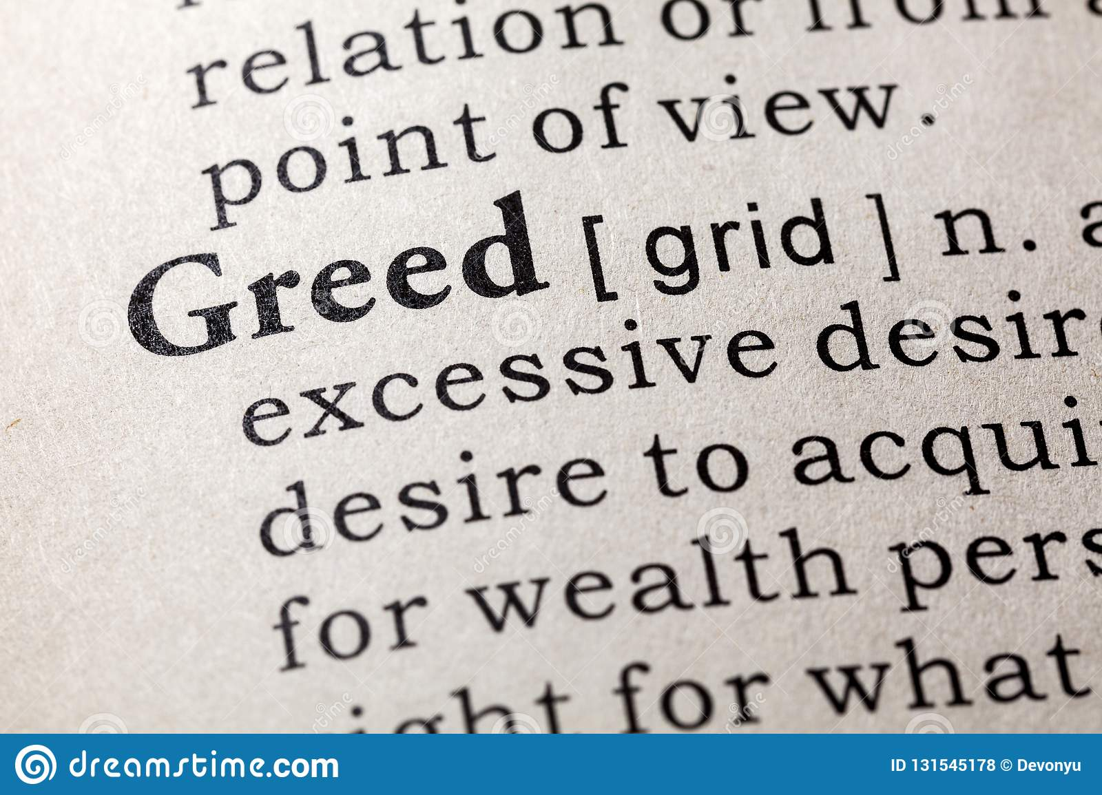 greed definition