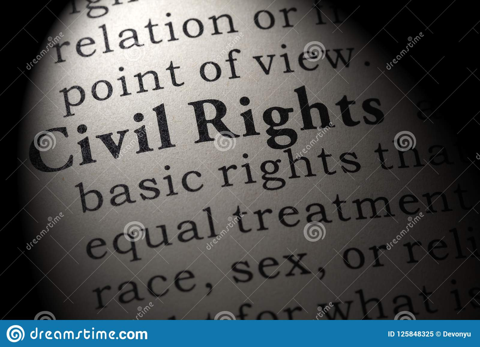 definition of civil rights stock image. image of rights - 125848325