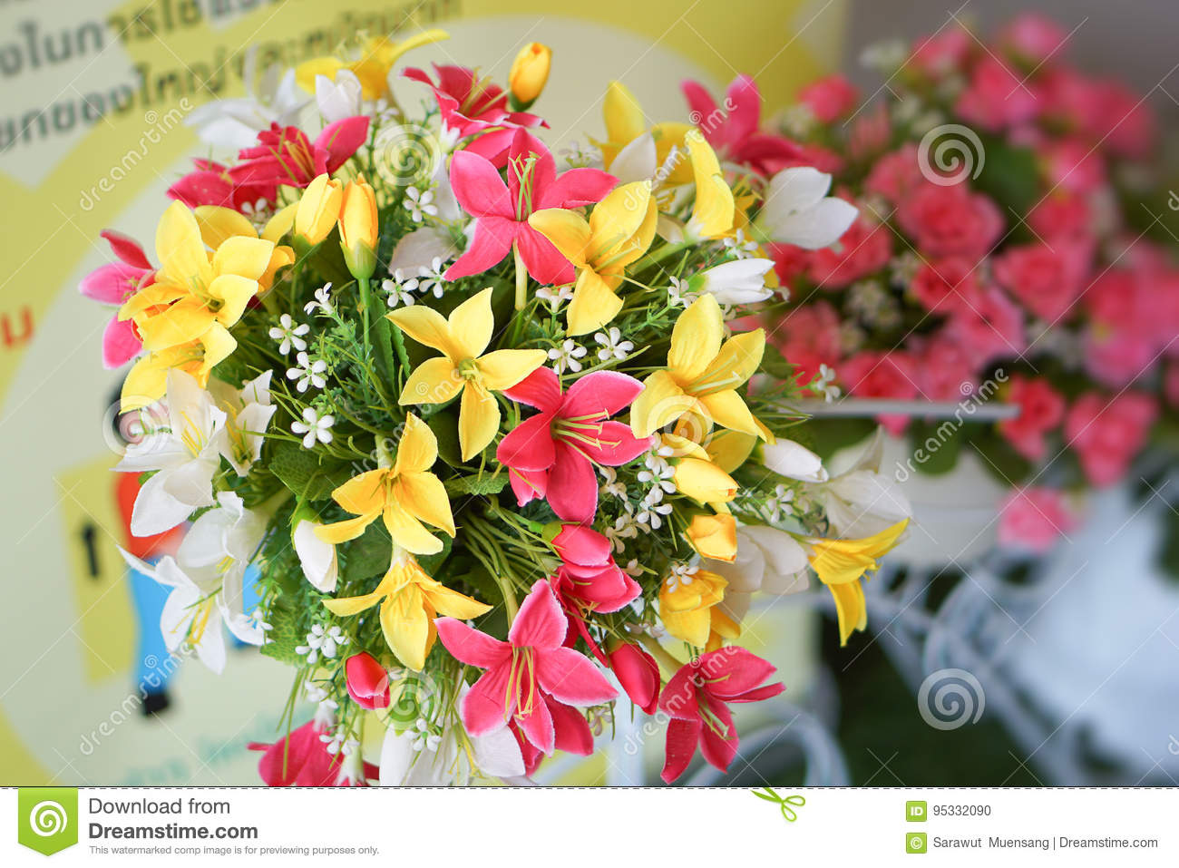Fake Flower And Floral Background Stock Photo Image Of Anniversary