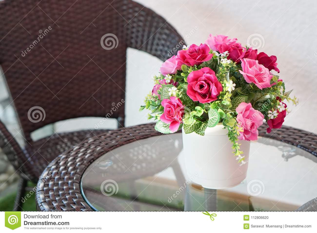 Fake flower and floral background rose flowers made of fabric the fake flower and floral background rose flowers made of fabric the fabric flowers bouquet colorful of decoration artificial flower izmirmasajfo