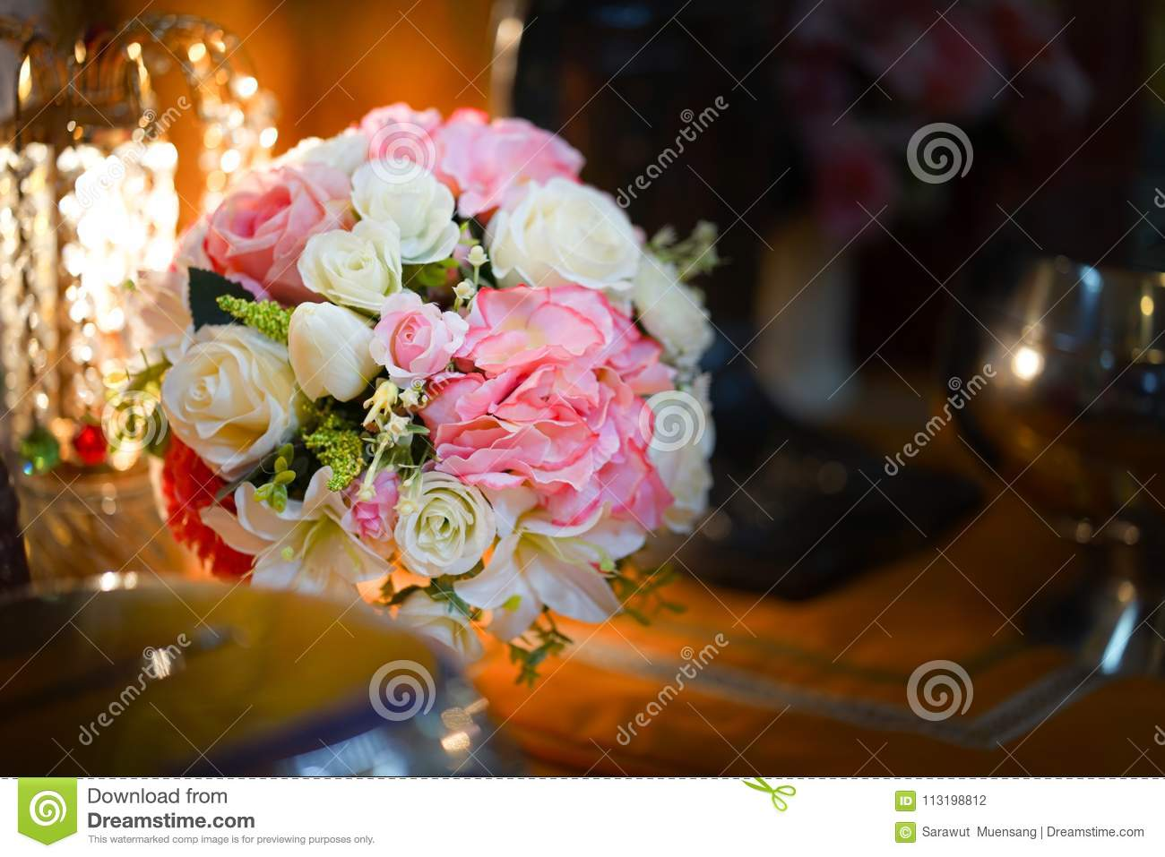 Fake flower and floral background rose flowers made of fabric the fake flower and floral background rose flowers made of fabric the fabric flowers bouquet fighting green izmirmasajfo