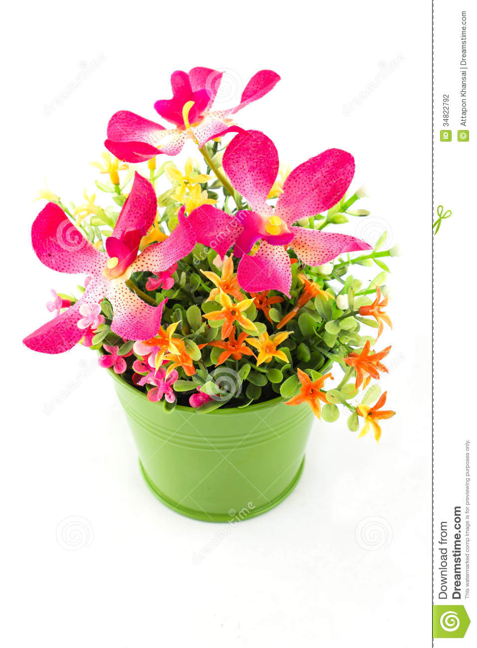 Fake flowers for interior decoration stock photography for Artificial plants for interior decoration