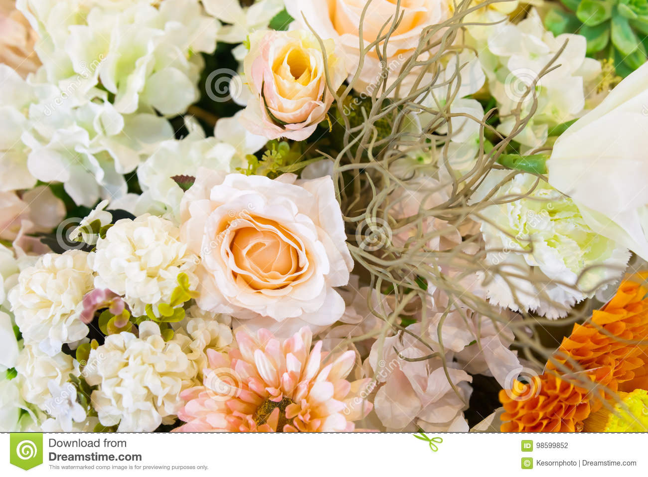 Fake flowers stock photo image of beautiful blooming 98599852 fake flowers izmirmasajfo