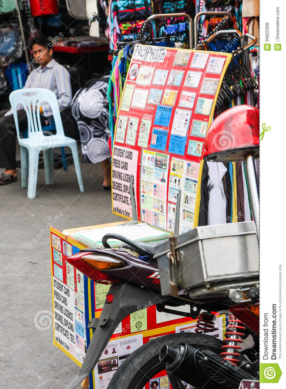 Fake ID And Document Shop, Bangkok Editorial Photo - Image