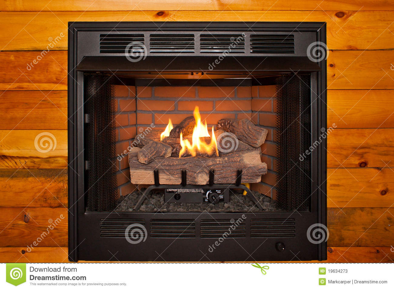fake log fireplace stock image image of artificial custom 19634273