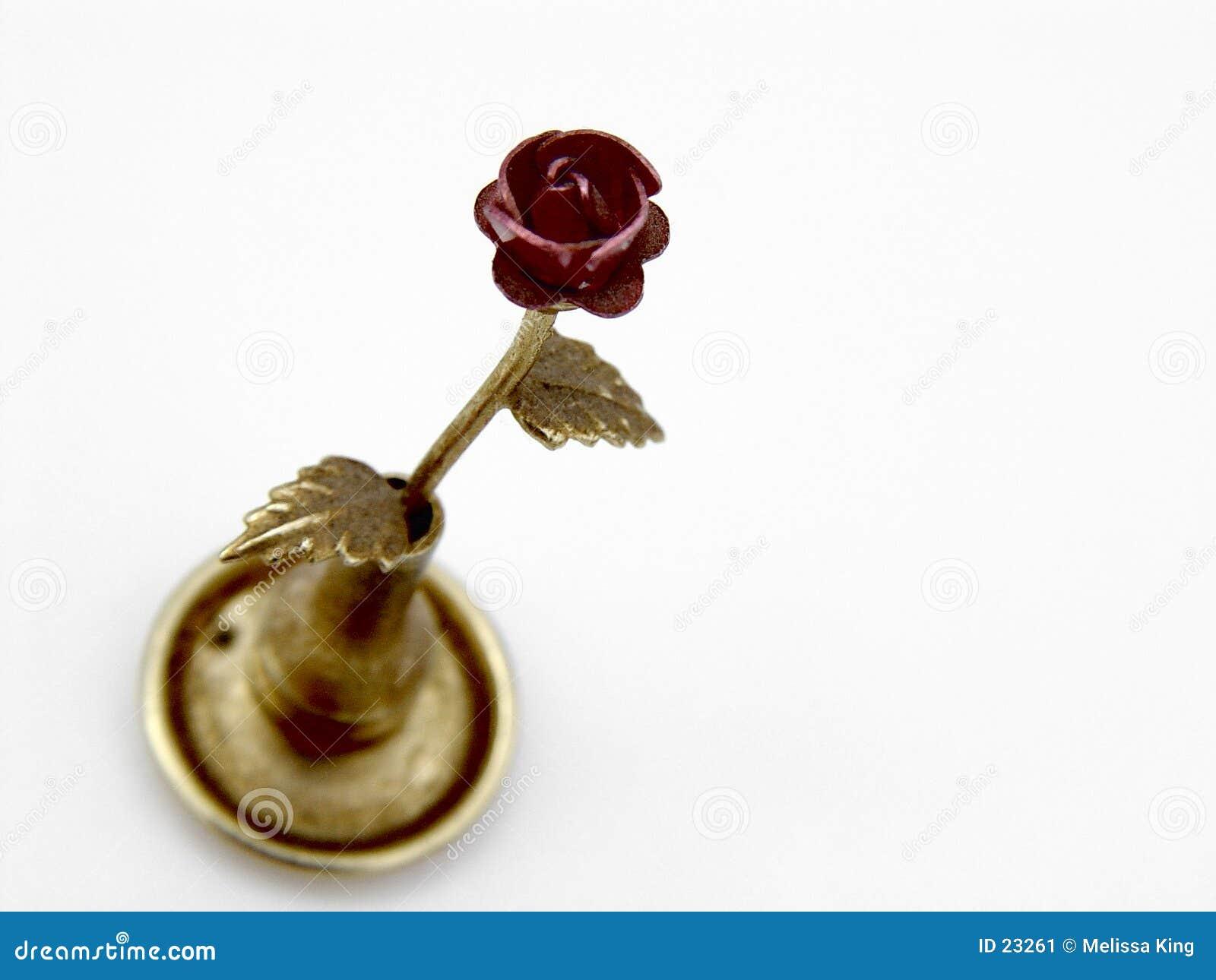 Fake metal rose