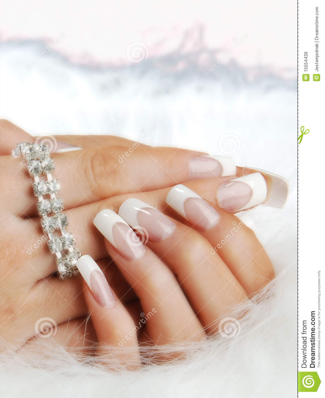 Fake Nails On Hands Of Woman Stock Image - Image of fingernails ...